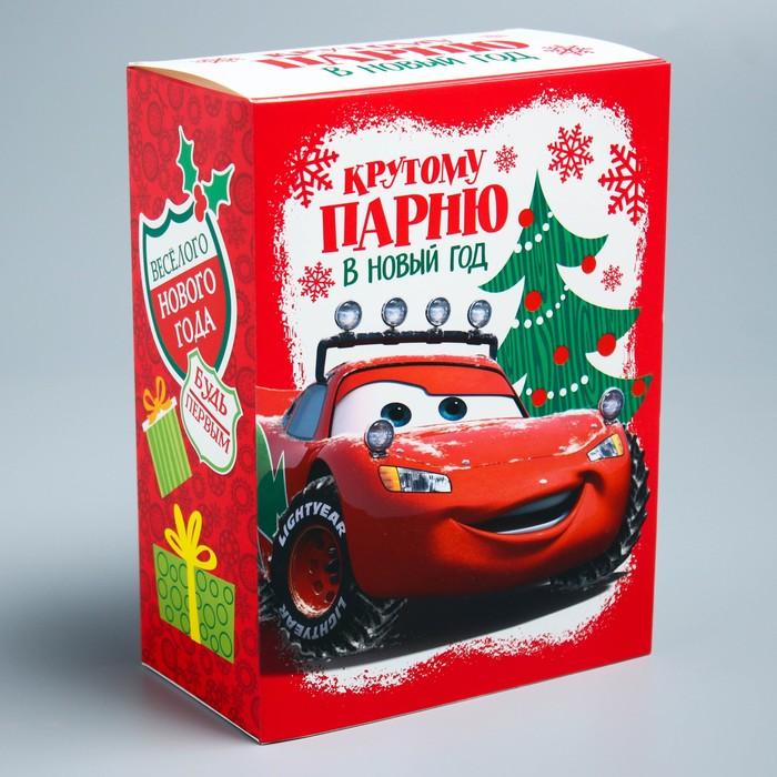 Подарочная коробка «С Новым Годом!», Тачки, 14,8 х 20 х 8 см