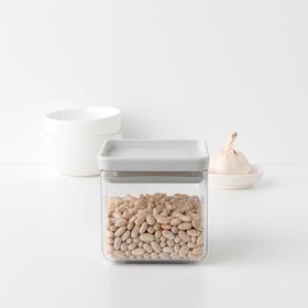 Прямоугольный контейнер Brabantia Tasty+, цвет белый, 0.7 л