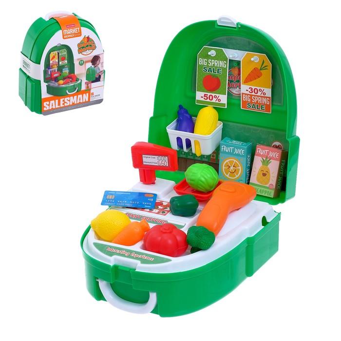 Игровой набор «Овощной магазин» в чемодане