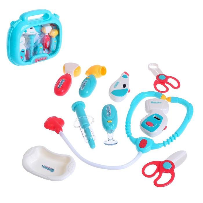 Набор доктора в чемоданчике «Семейный доктор», 10 предметов