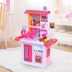 """Игровой набор кухня """"Готовим вместе"""" с аксессуарами, со световыми и звуковыми эффектами, цвета МИКС"""