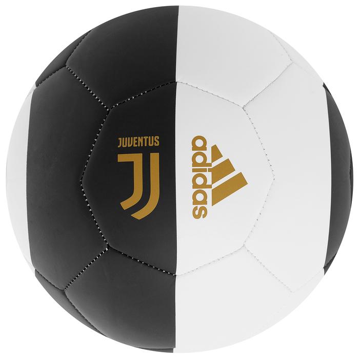 Мяч футбольный ADIDAS Capitano Juve, размер 5, TPU, 18 панелей, машинная сшивка, цвет чёрный/белый, DY2528