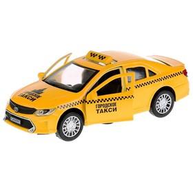Машина металлическая инерционная Toyota Camry «Такси», 12 см, двери и багажник открываются