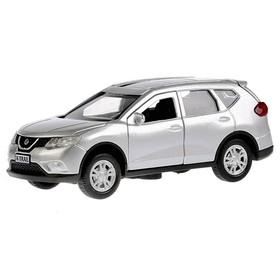 Машина металлическая инерционная Nissan X-Trail, цвет серебристый, 12 см, двери открываются