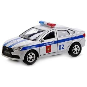 Машина металлическая инерционная «Лада Веста. Полиция», 12 см, двери открываются