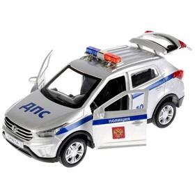 Машина металлическая Hyundai Creta «Полиция», 12 см, световые и звуковые эффекты, открываются двери