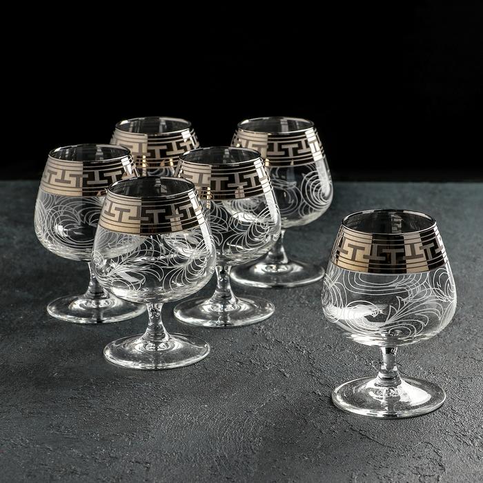 """Набор бокалов для бренди 410 мл """"Эдем. Греческий узор"""", 6 шт"""