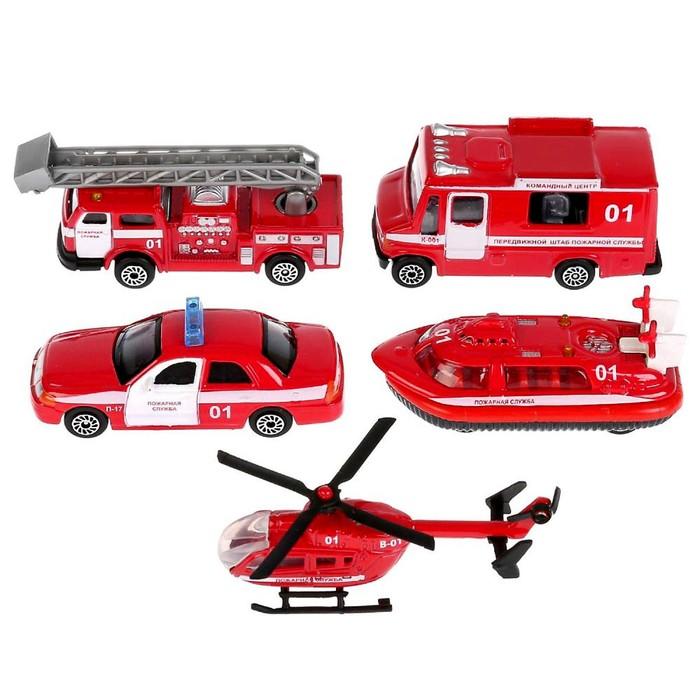 Машина металлическая «Пожарная», масштаб 1:72, МИКС - фото 105652175