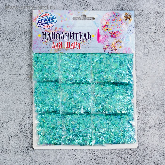 The filler for the ball of Yarn, blue, set of 9 pieces