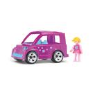 Игрушка «Городской розовый автомобиль», с водителем