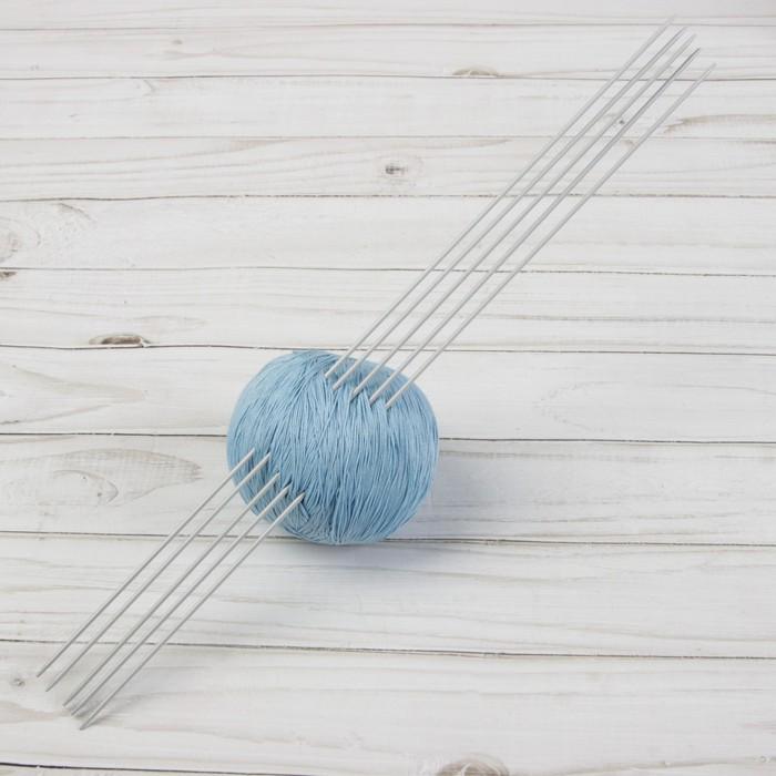 Спицы для вязания, чулочные, d = 2 мм, 35 см, 5 шт - фото 700537101