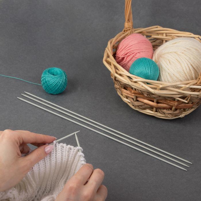 Спицы для вязания, чулочные, d = 3 мм, 35 см, 5 шт