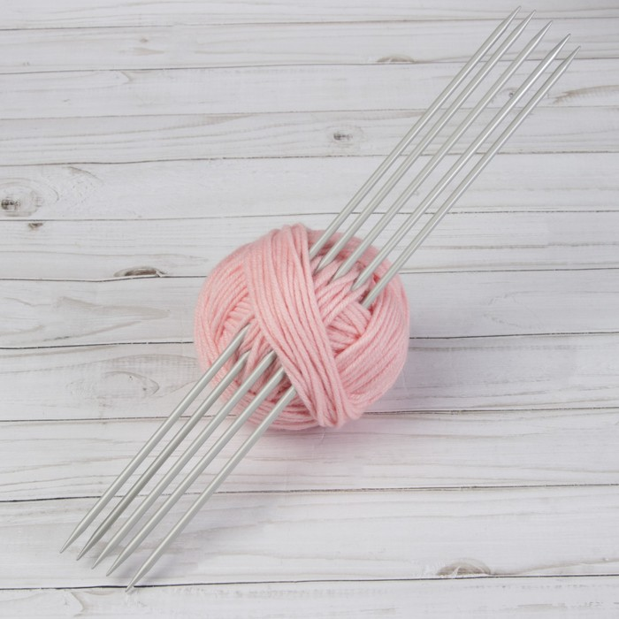 Спицы для вязания, чулочные, d = 4,5 мм, 35 см, 5 шт