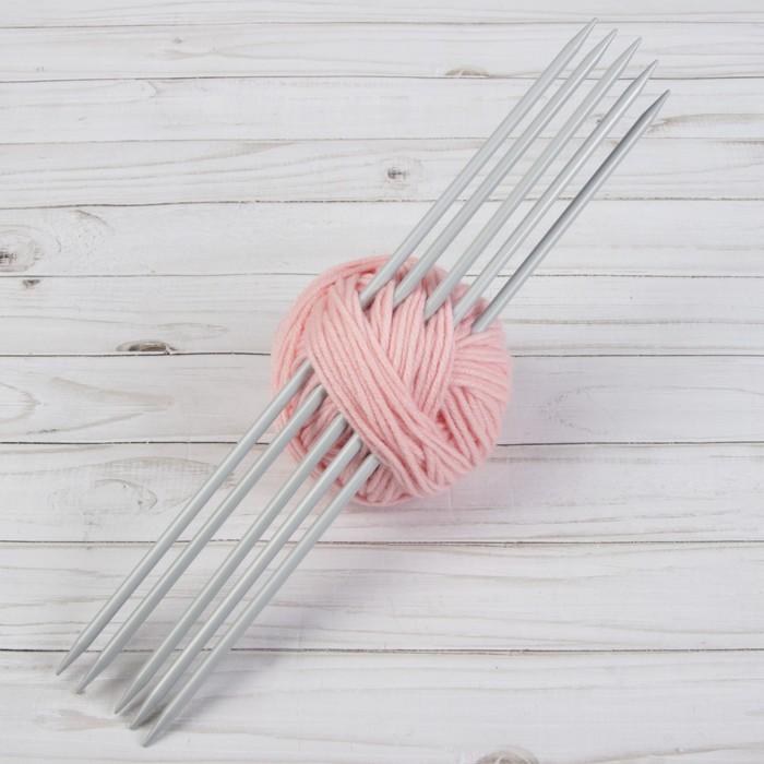 Спицы для вязания, чулочные, d = 6 мм, 35 см, 5 шт