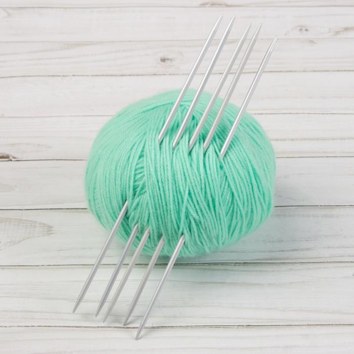 Спицы для вязания, чулочные, d = 3,25 мм, 20 см, 5 шт