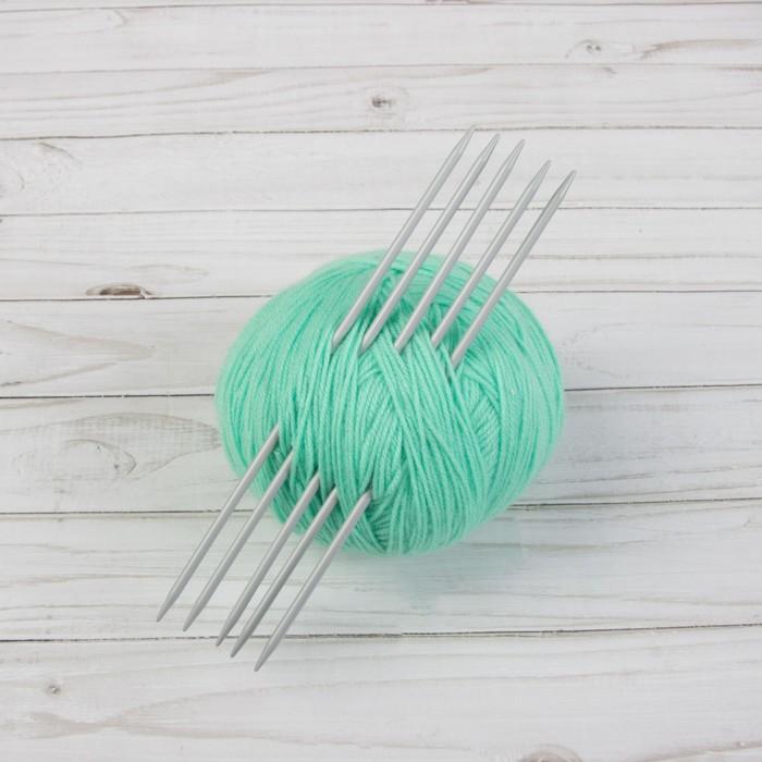 Спицы для вязания, чулочные, d = 3,75 мм, 20 см, 5 шт