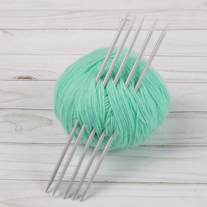 Спицы для вязания, чулочные, d = 4 мм, 20 см, 5 шт