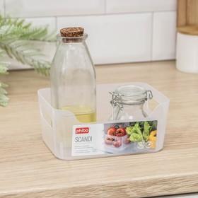 Корзина для хранения econova Scandi, 1,2 л, 17×12×7,5 см, цвет прозрачный