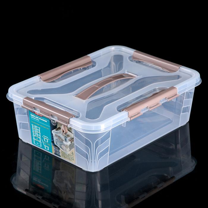 Ящик для хранения 10 л Grand Box, цвет кориневый