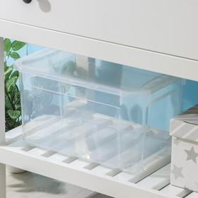 Ящик для хранения с крышкой econova «Кристалл XS Plus», 16 л, 38,9×27,5×21,5 см, цвет прозрачный