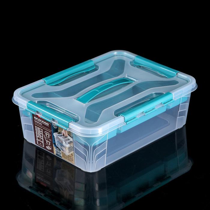 Ящик для хранения 10 л Grand Box, цвет голубой