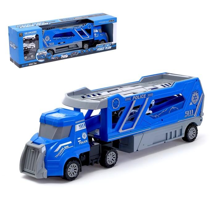 Грузовик инерционный «Полицейский автовоз» с 3 машинами