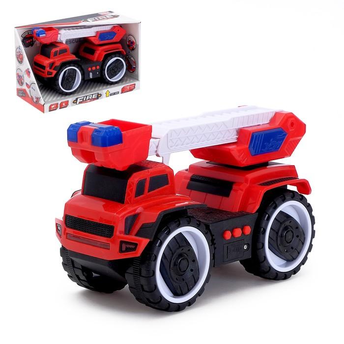 Машина инерционная «Пожарная служба», световые и звуковые эффекты