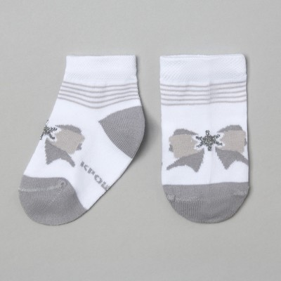 The socks Baby I'm snowflake, white, 14-16 cm