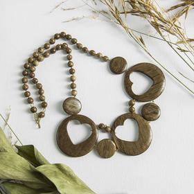 "Necklace handmade, wooden ""Three hearts"""