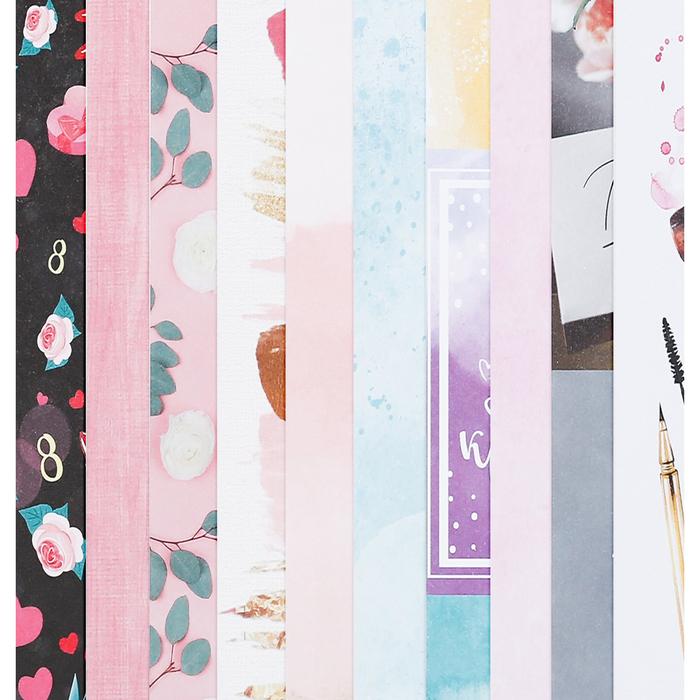 Набор бумаги для скрапбукинга «С 8 марта», 10 листов, 30 × 30 см