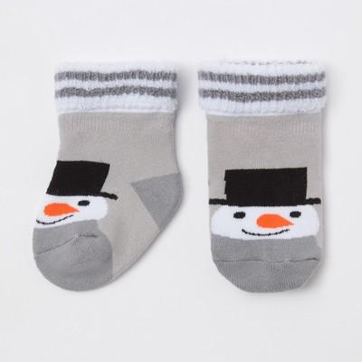 "Terry socks, Baby. I'm ""the Snowman"", gray, 8-10 cm"