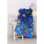 Вафельное полотенце пляжное Риф 80х150 см, разноцветный, хлопок 100%, 160 г/м2