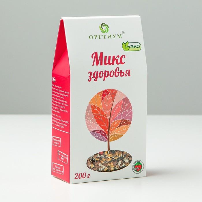 Микс здоровья: семена чиа и ягоды годжи, лен темный и светлый, кунжут темный и светлый, 200 г - фото 15582