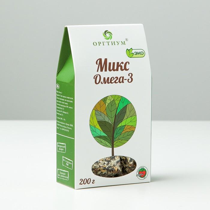 Микс Омега-3: семена чиа и конопли очищенные, лен темный и светлый, кунжут темный и светлый, 200 г - фото 15590