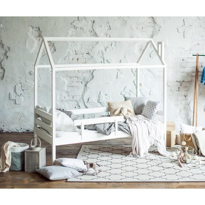 Кровать домик №1, 80х140 см, без бортика, цвет белый