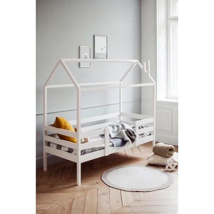 Кровать домик №22, 80х160 см, цвет белый