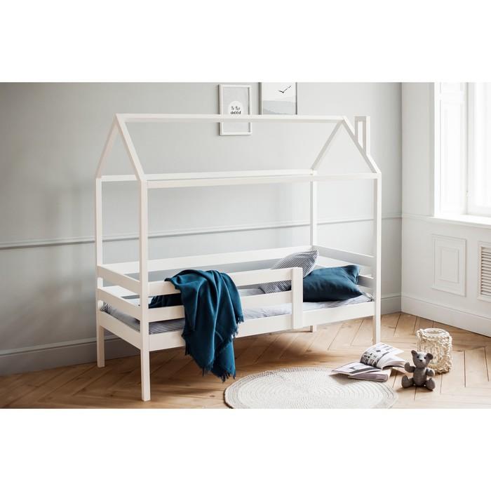 Кровать домик №3, 80х140 см, цвет белый