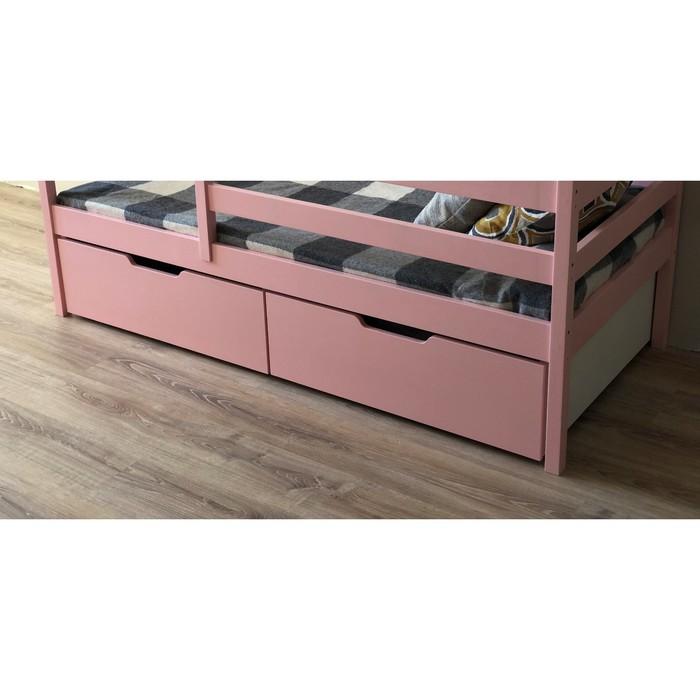 Ящики выкатные, 2 шт, к кроватке-домику 140х80 см, цвет розовый