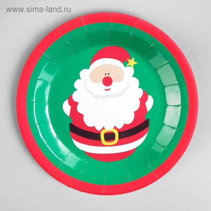 """Plate paper """"Santa Claus"""" set of 6 PCs"""