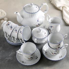 """Сервиз чайный на 6 персон """"Гуси"""", 15 предметов"""