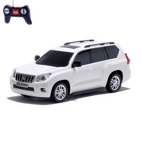 Машина радиоуправляемая Toyota Land Cruiser Prado, масштаб 1:24, работает от батареек, свет, цвет белый