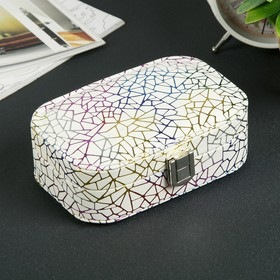 Leatherette jewelry box for earrings,