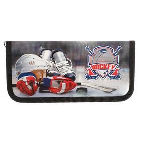 Пенал 1 секция, 90 х 190 мм, ламинированный картон, «Оникс», ПКК 02- 5, Hockey