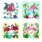 Разделочная доска-подставка «Фламинго», 18×18 см, МИКС