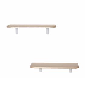 Комплект полок «Сочи 450» (2 шт), 450 × 185 × 16 мм, цвет дуб белёный