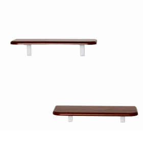 Комплект полок «Сочи 450» (2 шт), 450 × 185 × 16 мм, цвет орех