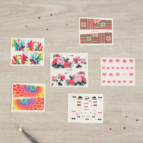 Slider design and stickers to decorate nails, 6 PCs