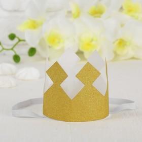 Корона «Король», с блёстками, цвет золотой в Донецке