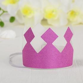 Корона «Король», с блёстками, цвет розовый в Донецке