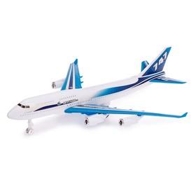 Самолёт инерционный «Воздушный корабль», цвета МИКС